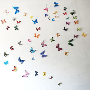 3D Multi Coloured Butterfly Display - children's room