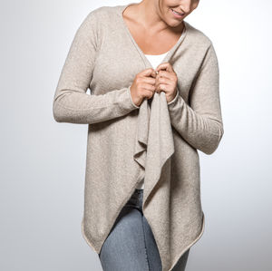 Cashmere Waterfall Cardigan - women's fashion
