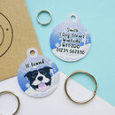 Personalised Winter Wonderland Dog ID Tag
