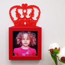 Child's 'Little Queen' Photo Frame in Red