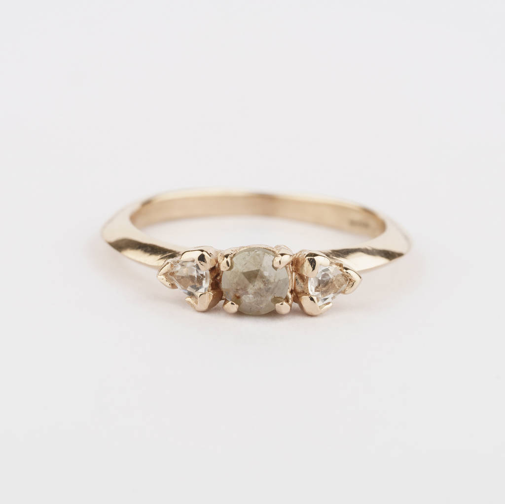 of engagement gold dainty smoky collection anueva setting products by solitaire geometric black rosecut prong galaxy profile hand rings low jewelry shield diamond evergreen ring yellow carved and