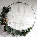 Hanging Brass Wreath Ring