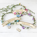 Hen Party Floral Head Piece With Personalised Sign