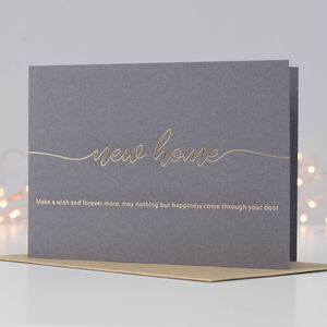 New Home Card With Poem - new home cards
