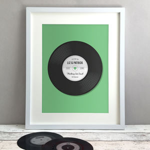 Personalised Record Wedding Or Anniversary Gift Print