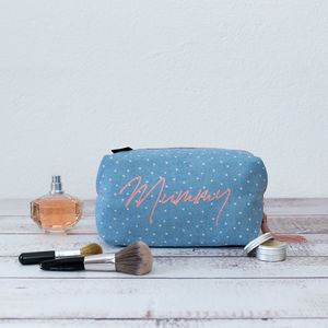 Personalised Wash Bag Mummy Print