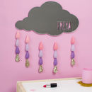 Child's Nursery Cloud Mirror With Raindrops
