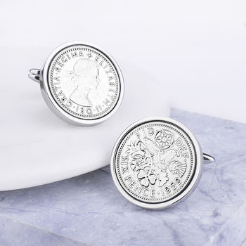 60th Birthday 1959 Sixpence Coin Cufflinks