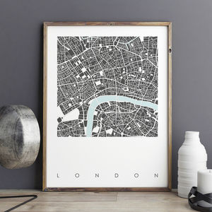 Map Print Of London Limited Edition