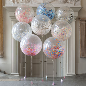 Giant Confetti Filled Balloon - adults birthday
