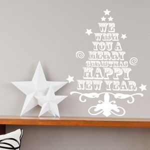 Christmas Tree Sticker - decorative accessories