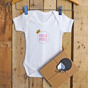 Girls Rule / Boys Rule Baby Vest - underwear