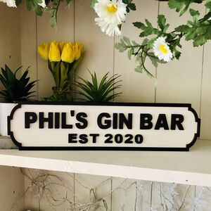 Pub / Bar House Personalised Wooden Double Road Sign
