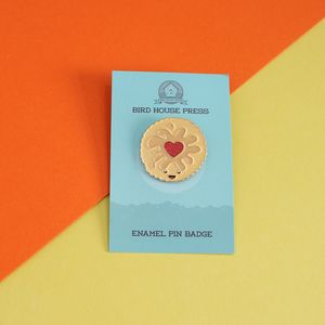 Jammie Dodger Enamel Lapel Pin Badge