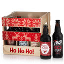 Wooden Ho Ho Ho Crate With Nine Ales