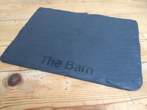 Personalised Country Slate Placemat