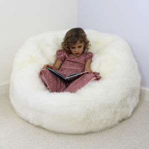 Ivory Sheepskin Beanbag - floor cushions & beanbags