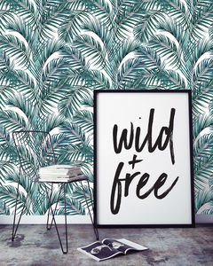 Palm Leaves Self Adhesive Wallpaper - wallpaper
