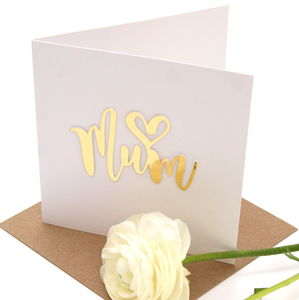 Mothers Day ' Heart Mum' Card - mother's day cards