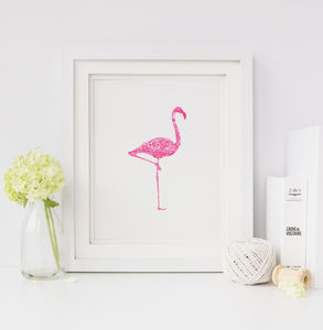 Neon Flamingo Screen Print