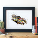 Audi S1 Group B Rally Car Illustration