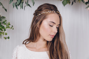 Silver, Gold Or Rose Gold Wedding Headband India - wedding fashion