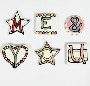 Letter Magnets - decorative letters