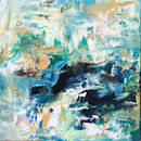 Large Original Blue Abstract Painting
