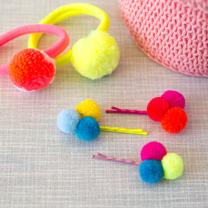 Pom Pom Sweet Thing Hair Slides - hair accessories