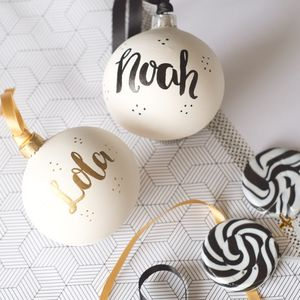 Handpainted Personalised Bauble - new in christmas