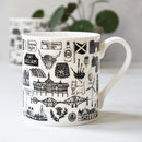 Illustrated Scotland Mug