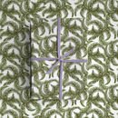 Tropical Palm Leaf White Wrapping Paper