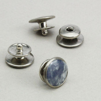 Original Unused Marbled 1940's 'Push Stud' Cufflinks