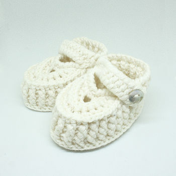Baby Hand Knitted Merino Wool Slipper Shoes