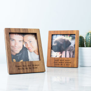 Personalised Wooden Polaroid Magnetic Frame With Stand - kitchen