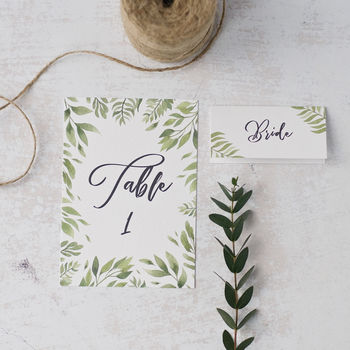 Willow Table Cards