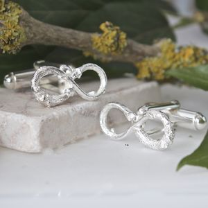 Silver Infinity Twig Cufflinks - women's accessories