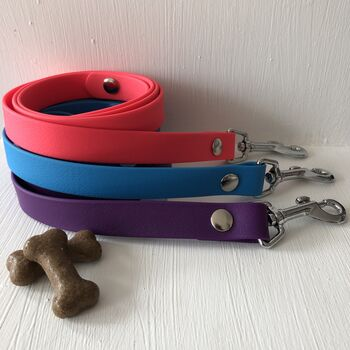 Biothane Pink, Blue Or Purple Dog Lead/Leash