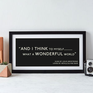Personalised Quotation Print - posters & prints
