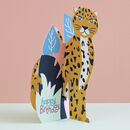 Happy Birthday 3D Card Leopard