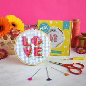 Love Mini Cross Stitch Craft Kit - sewing kits