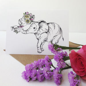 Little Elephant Mother's Day Card