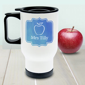 Personalised Teacher Travel Mug - tableware