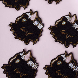 Cat Iron On Patch
