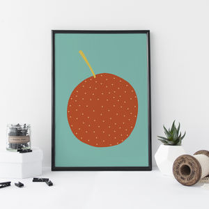 Orange Kitchen Print