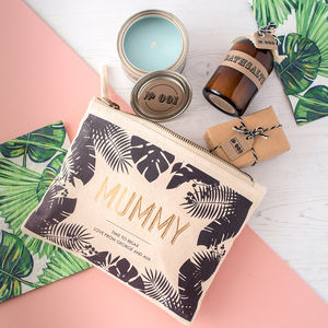 Personalised Mum's Relaxation Kit And Make Up Bag
