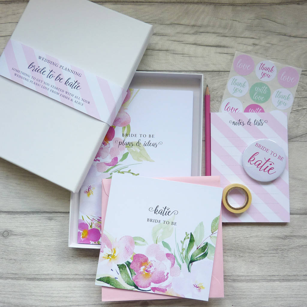 Gift Ideas For Wedding Planner: Bride To Be Wedding Planning Stationery Gift Set By Little