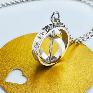 The Day My Life Changed Two Ring Necklace - necklaces & pendants