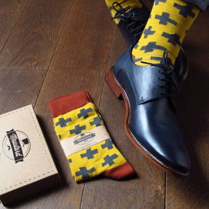 Men's Crosses Print Socks - new in fashion