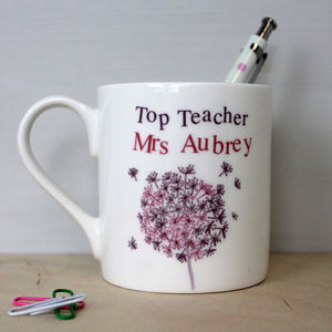 Personalised Gift Mug For Top Teacher, Assistant, Nanny